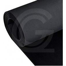 Fijnribloper SBR | eenzijdig doekafdruk | zwart | 4 mm | 1.00 breed | rol 10 meter
