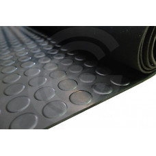 Noppenloper | NBR | zwart | 3 mm | 125 cm breed | rol 10 meter