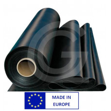 Plaatrubber EPDM 30 Shore | zwart | 2 mm | 1.40 breed | rol 10 meter
