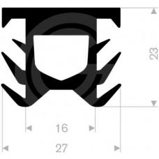 Dilatatieprofiel | EPDM | 23 x 27 mm | rol 25 meter