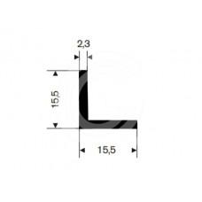 Hoekprofiel | 15,5 x 15,5 x 2,3 mm | rol 50 meter