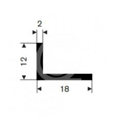 Hoekprofiel | 18 x 12 x 2 mm | rol 50 meter