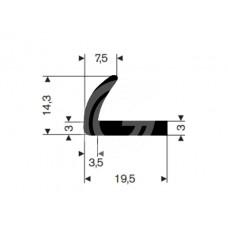 Hoekprofiel | 19,5 x 14,3 x 7,5 mm | rol 50 meter
