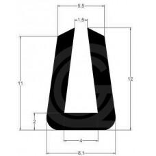 U-profiel | binnenmaat 4 mm | hoogte 12 mm | dikte 2 mm | rol 100 meter