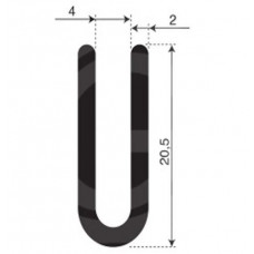 U-profiel | binnenmaat 4 mm | hoogte 20,5 mm | dikte 2 mm | rol 50 meter