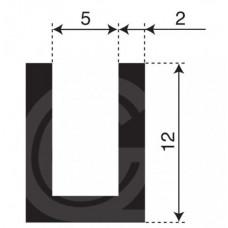 U-profiel | binnenmaat 5 mm | hoogte 12 mm | dikte 2 mm | rol 50 meter