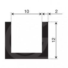 U-profiel | binnenmaat 10 mm | hoogte 12 mm | dikte 2 mm | rol 50 meter