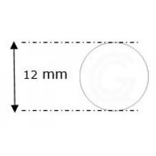 Siliconensnoer wit | FDA keur | Ø 12 mm | rol 25 meter