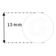 Siliconensnoer wit | FDA keur | Ø 15 mm | rol 20 meter