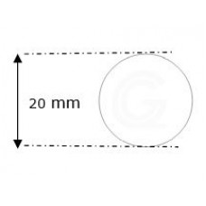Siliconensnoer wit | FDA keur | Ø 20 mm | rol 20 meter