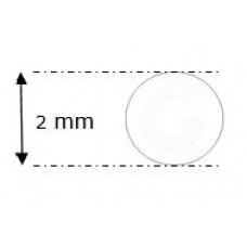 Siliconensnoer wit | FDA keur | Ø 2 mm | rol 50 meter