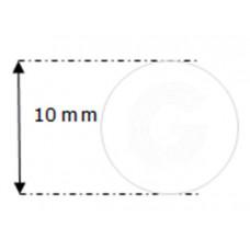Siliconensnoer wit | FDA keur | Ø 10 mm | rol 25 meter
