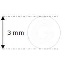 Siliconensnoer wit | FDA keur | Ø 3 mm | rol 50 meter
