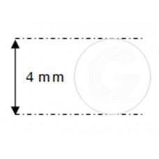 Siliconensnoer wit | FDA keur | Ø 4 mm | rol 50 meter