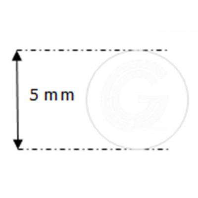 Siliconensnoer wit | FDA keur | Ø 5 mm | rol 50 meter