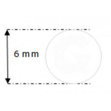 Siliconensnoer wit | FDA keur | Ø 6 mm | rol 50 meter