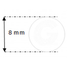 Siliconensnoer wit | FDA keur | Ø 8 mm | rol 25 meter