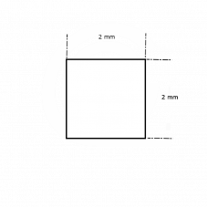Siliconen vierkantsnoer wit | FDA keur | 2 x 2 mm | rol 50 meter