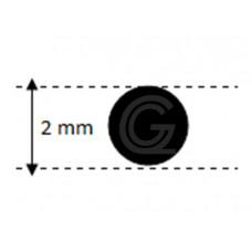 EPDM rubber rondsnoer |Ø 2 mm | per meter