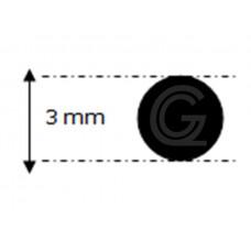 EPDM rubber rondsnoer |Ø 3 mm | per meter
