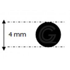 EPDM rubber rondsnoer |Ø 4 mm | per meter