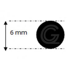 EPDM rubber rondsnoer |Ø 6 mm | per meter