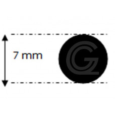 EPDM rubber rondsnoer |Ø 7 mm | per meter