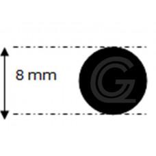 EPDM rubber rondsnoer |Ø 8 mm | per meter