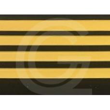 Trapneus | zwart-geel | stuk 4,5 meter